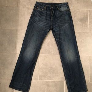 BR EUC Relaxed fit dark denim jeans 34 x 34